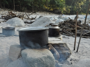Karnali rafting kitchen
