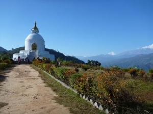 Peace pagoda and Daulaghiri