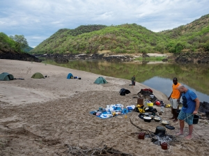Camping in hippo pool