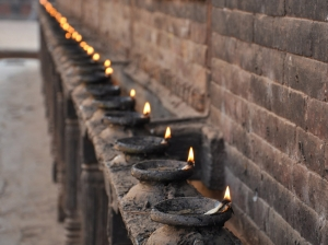Candles in Bhaktapur