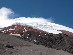 Mountain hut on Cotopaxi
