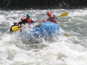Rafting white water